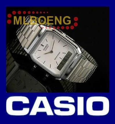 relógio casio aq-230 análogo digital alarme cronômetro sn/br