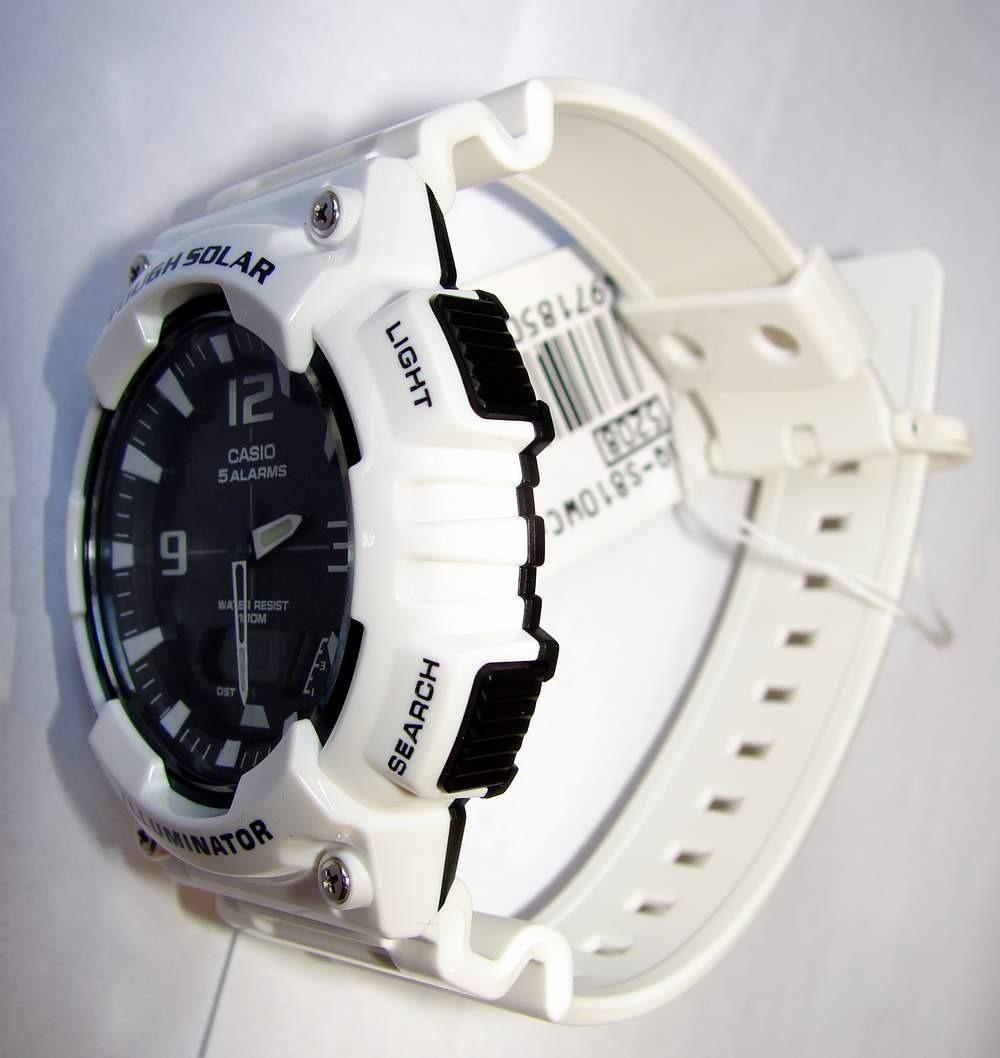 2f079e8c2c1 Relógio Casio Aq-s810 Tough Solar Branco Prova Dágua 100 Mts - R ...