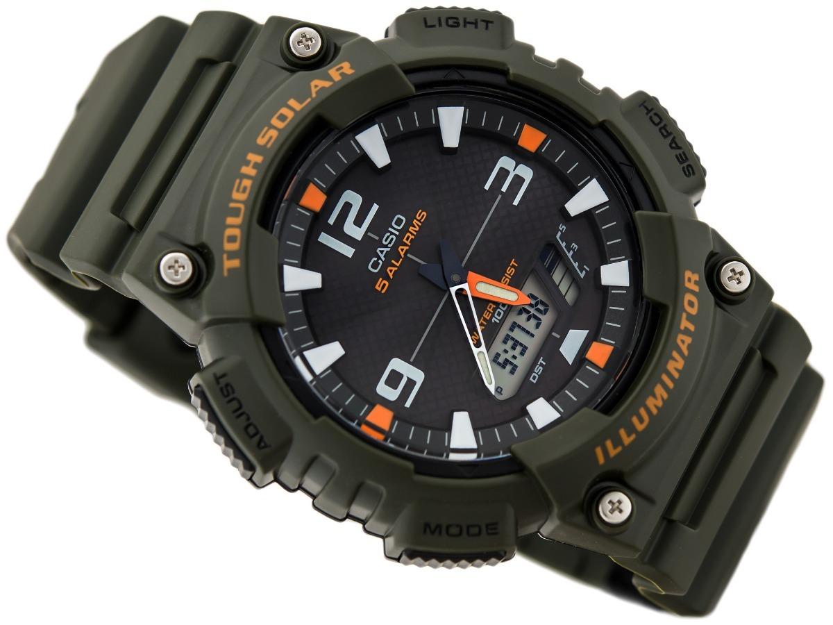 1efd665f57a relógio casio aq-s810w-3av tough solar 5 alarmes original. Carregando zoom.