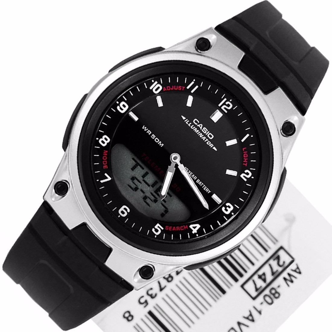 91419a813a4 Relógio Casio Aw-80-1avdf Original Ana-digi Hora Mundial - R  179