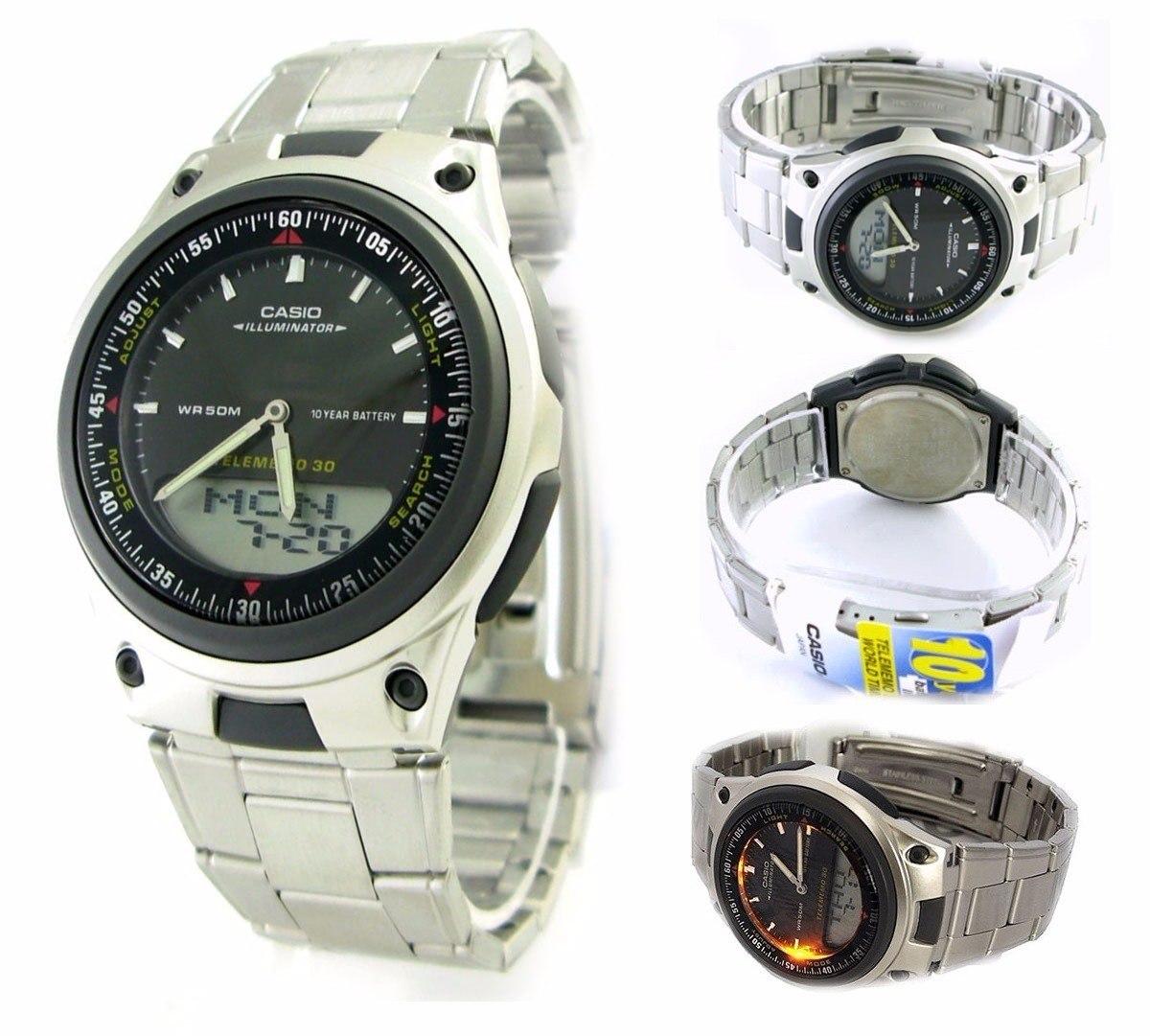 703540dc46f relógio casio aw-80 d 30 fones 3 alarmes prova d água 30m pt. Carregando  zoom.