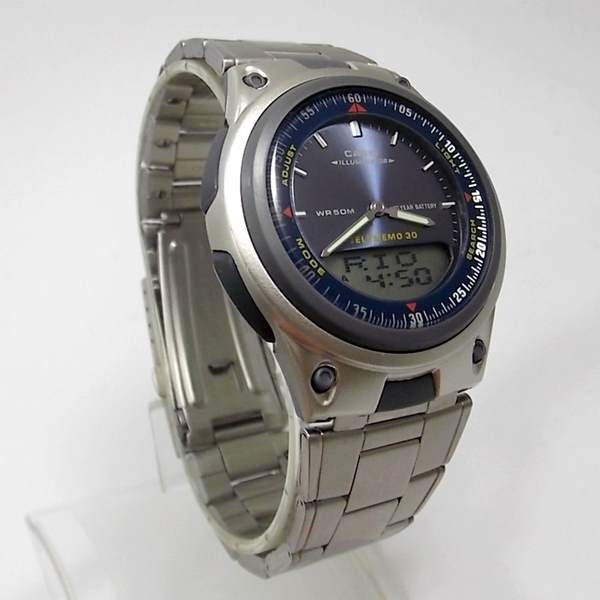 7de14725ead Relógio Casio Aw-80d-2av Anadigi Alarmes Azul Telememos Wr50 - R ...