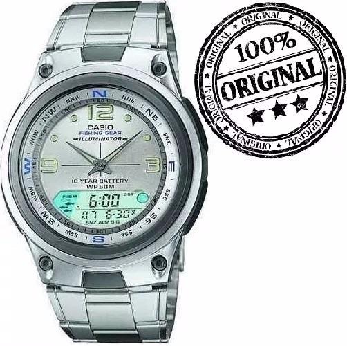 7260070a5d0 Relógio Casio Aw-82 D Fishing Gear Pesca Fases Lua Com Caixa - R ...