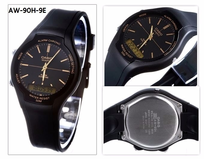 45cdcb6c78e Relogio Casio Aw-90h-9evdf Ana-digi Alarme Cronometro Aw-90 - R  193 ...