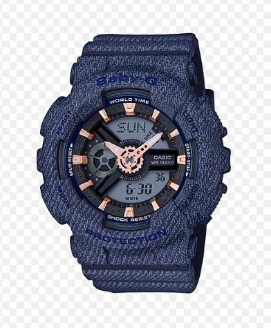 e6e17d5e343 Relogio Casio Baby-g Ba-110dc-2a1 Jeans Original Feminino - R  678 ...