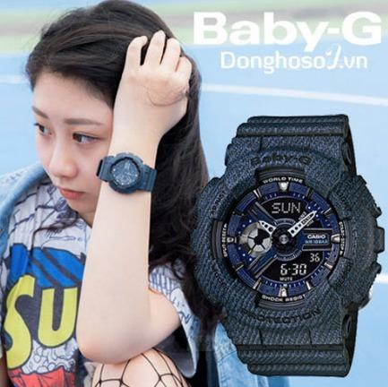 9da17691f3e Relogio Casio Baby-g Ba-110de-2a1 Jeans Feminino Em 12x S ju - R ...