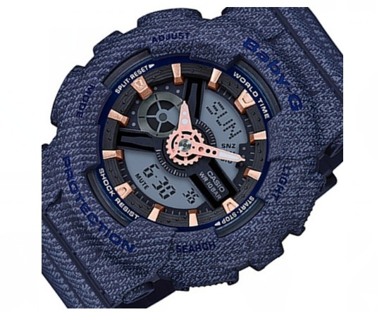 57b57146d8b Relogio Casio Baby-g Ba-110de-2a1dr Azul Original G-shock - R  688 ...