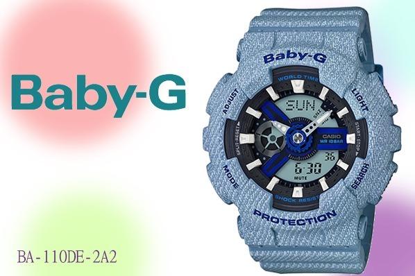 f62b0165169 Relogio Casio Baby-g Ba-110de-2a2 Jeans Original Feminino - R  648 ...