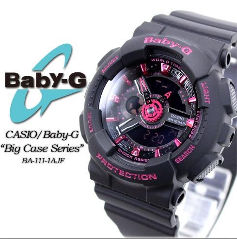 f8ea8fc0e44 Relogio Casio Baby-g Ba-111-1a G-shock Feminino Original - R  548