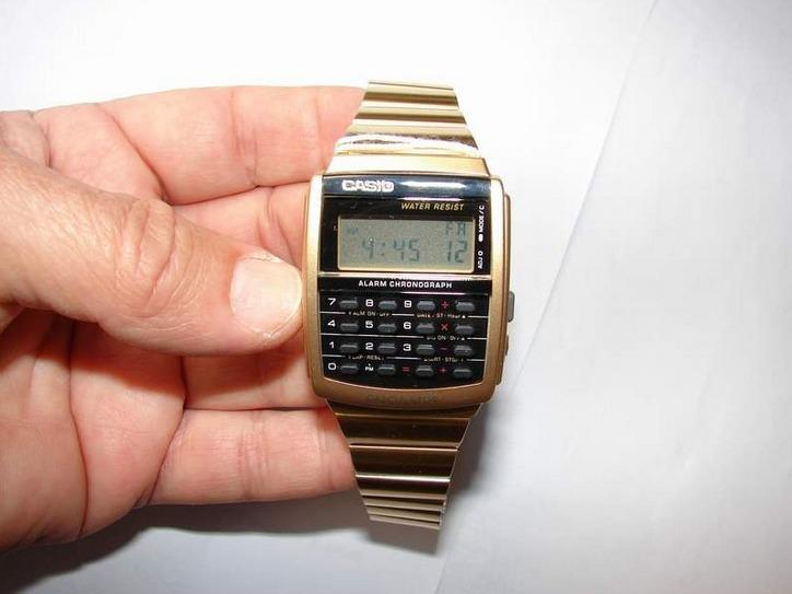 f88d0792359 Relógio Casio Calculadora Ca 506g Dourado - Original - R  259