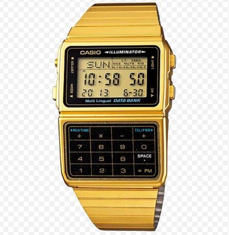 7ac56ab2ff8 Relogio Casio Calculadora Dbc-611g Databank Dourado Em Sp - R  279 ...