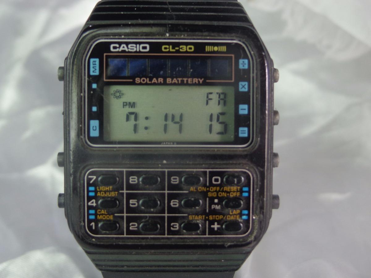 0dcc6ee790e Relógio Casio Calculadora Solar C L - 30 Raro Relogiodovovô. - R ...