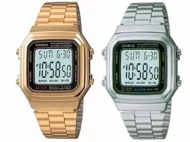 2196d7b4a15 Relógio Casio Clássico Retro Vintage Dourado Gold Prata A178 - R ...