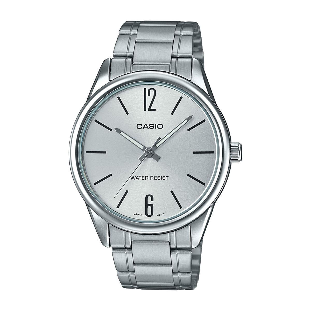 61d87750924 relógio casio collection masculino prata analógico mtp-v005d. Carregando  zoom.