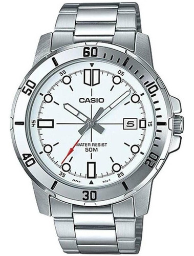 relógio casio collection masculino prata mtp-vd01d-7evudf-br