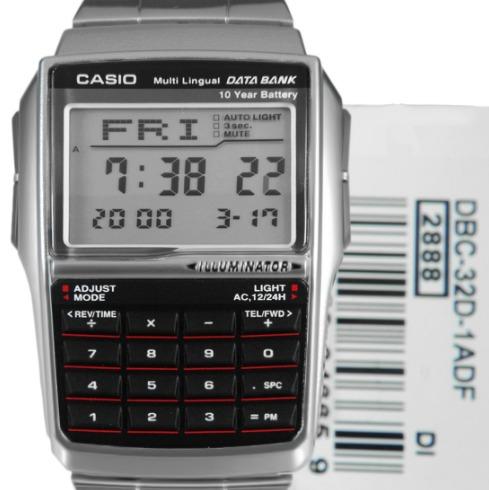 7c81fe52caf Relogio Casio Data Bank Dbc-32d-1a Calculadora Db-360 Em ..
