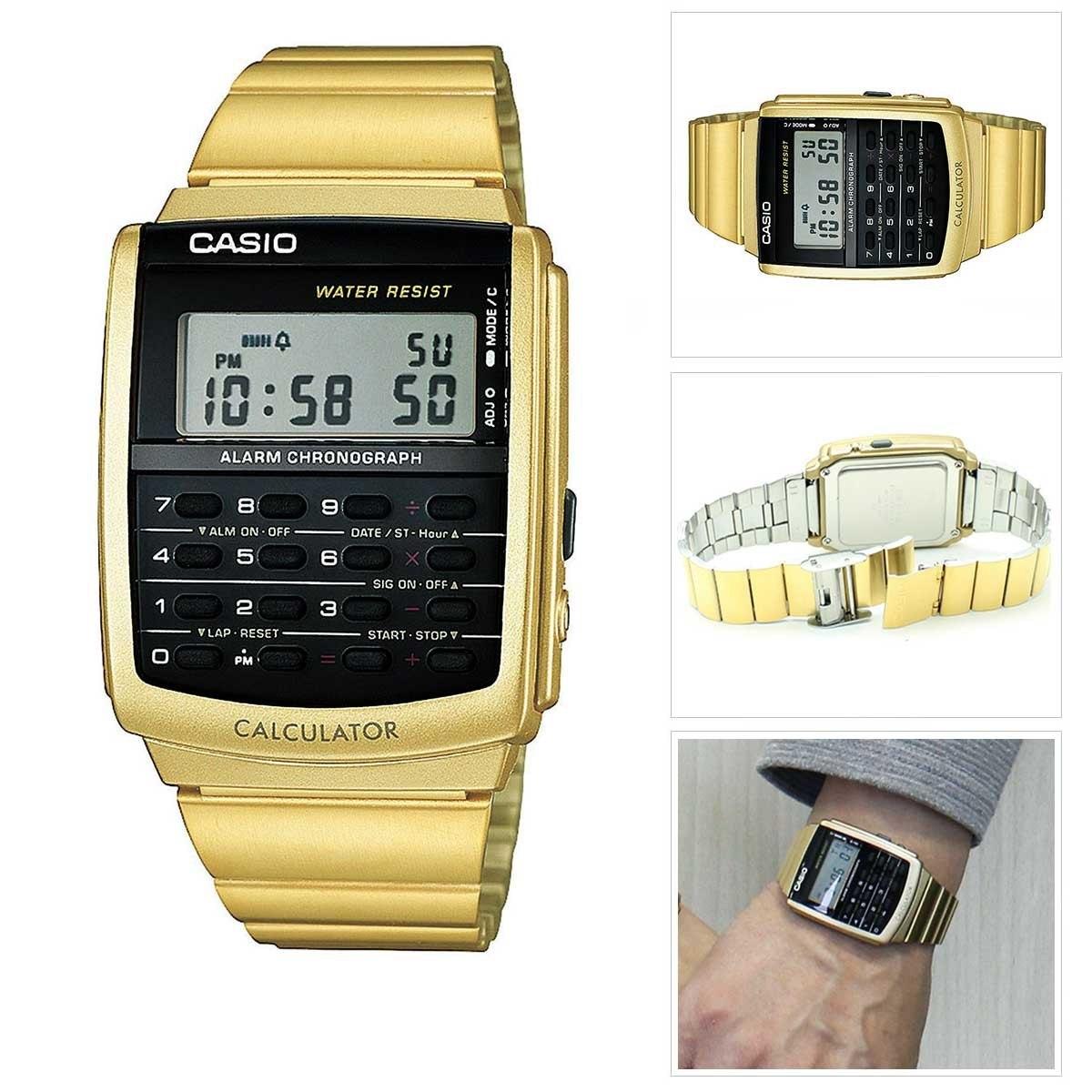faf9b171da0 relogio casio data-bank dourado calculadora ca-506g-9a. Carregando zoom.