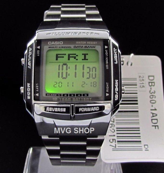 cf68350c578d7 Relógio Casio Data Bank Prata Db-360-1adf Vintage Original - R  159 ...