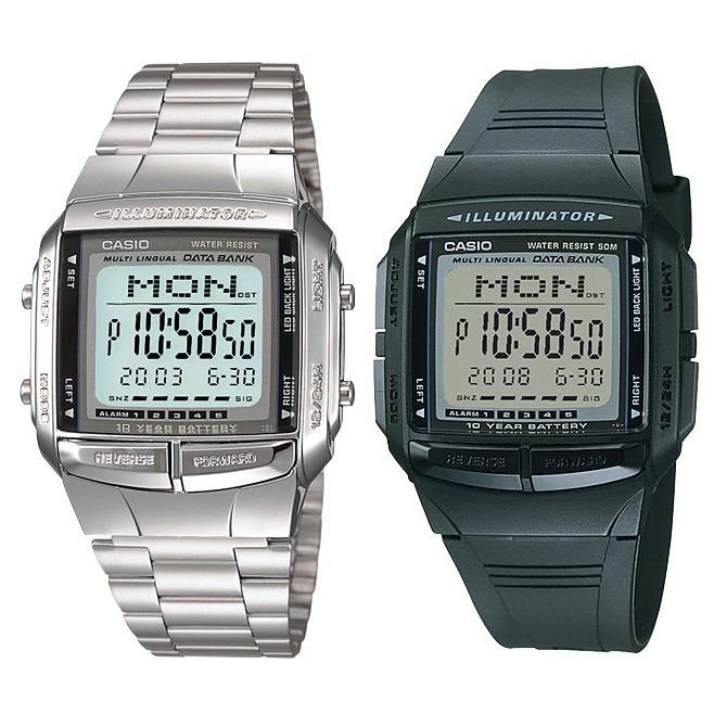 46d05bbea10 Relógio Casio Db-36 + Db-360-1adf Vintage Prata Data Bank - R  259 ...