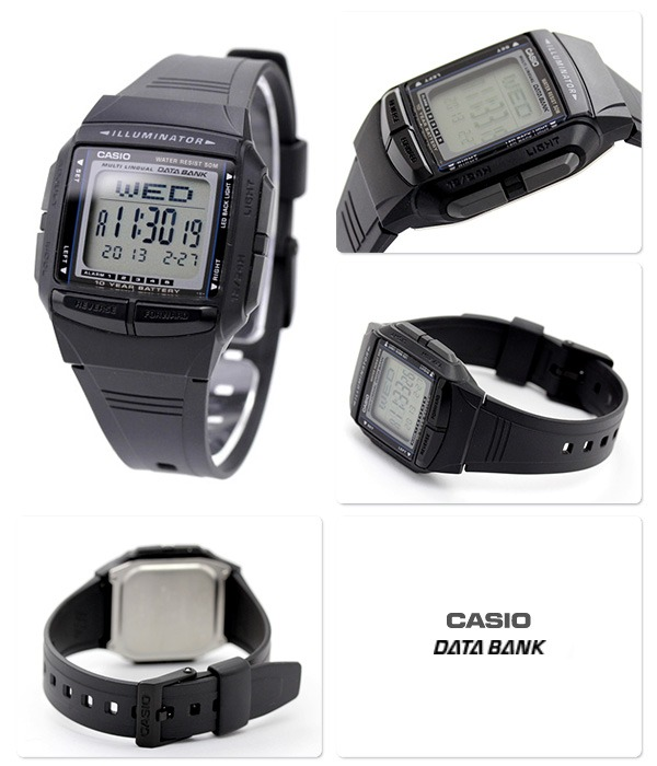 08aa723faaa Relógio Casio Db-36 Retro Vintage Data Bank 30 Tel 5 Alar. P - R ...