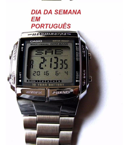 relogio casio db-360-1 aço 30databank retrô vintage wr db360
