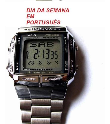relogio casio db-360-1 aço 30memo retrô vintage wr na caixa