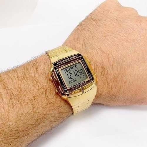 146ae060463 Relógio Casio Db-360 Dourado Retro 30 Tel 5 Alarme Original - R  219 ...