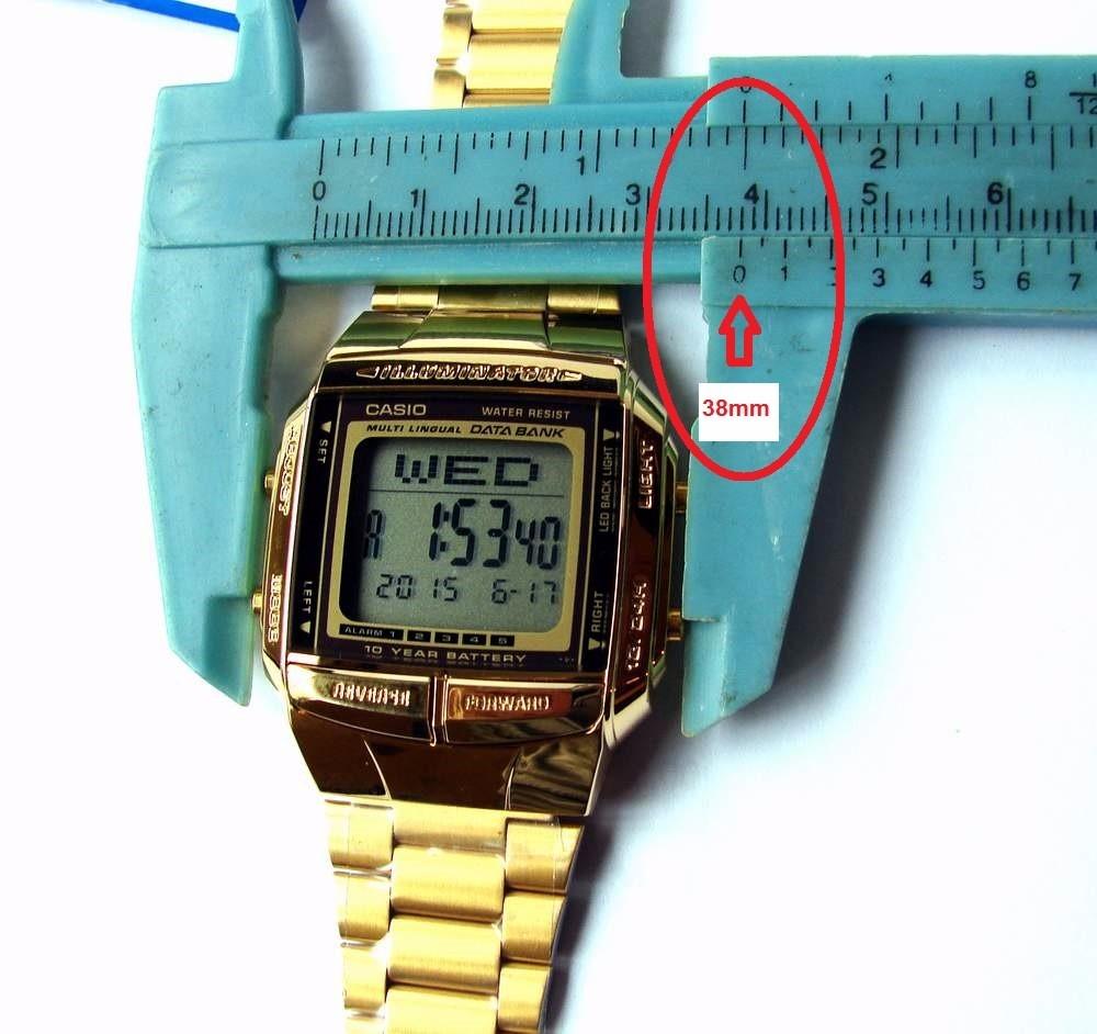 e6b255603b2 relogio casio db 360g-9 data bank dourado 5alarm retrô s jur. Carregando  zoom.