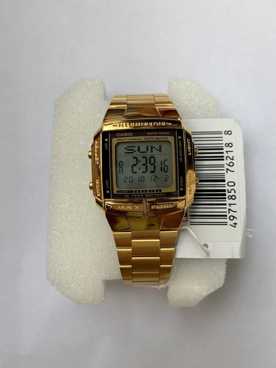 0d0b328bcf5 relógio casio db-360g-9 data bank dourado retrô. Carregando zoom.