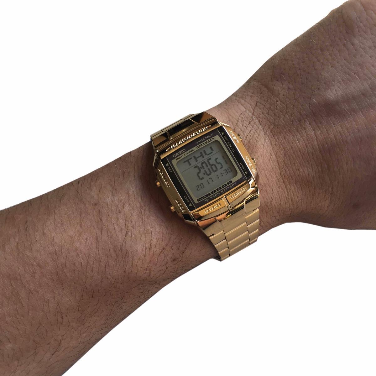 add753739e6 relógio casio db360 dourado retro databank 30 - original. Carregando zoom.
