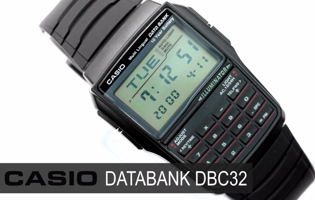 752fcd41d0a relogio casio dbc 32 databank calculadora alarme crono luz. Carregando zoom.