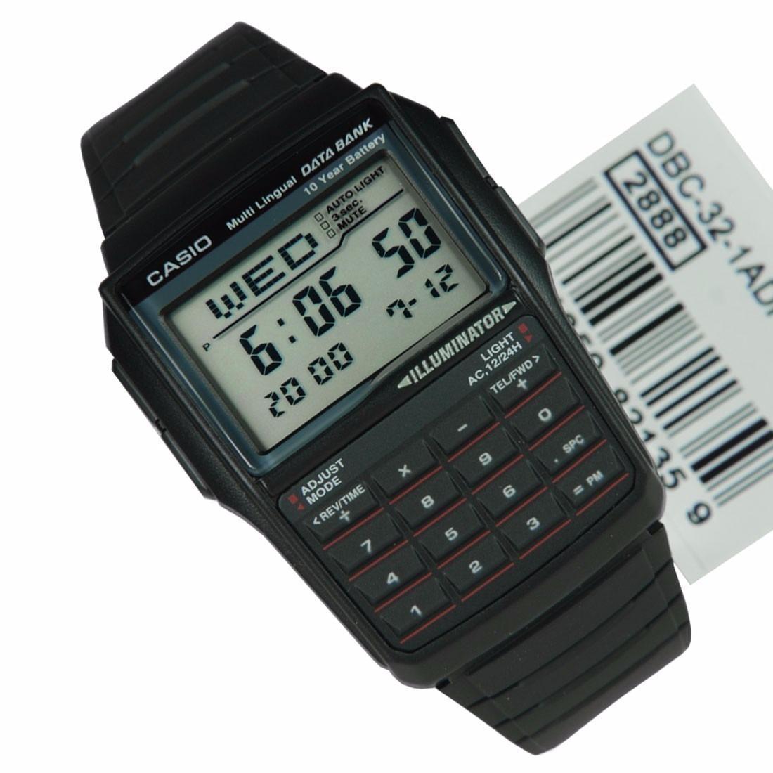 302f03799a0 relógio casio dbc 32 databank calculadora alarme crono luz. Carregando zoom.