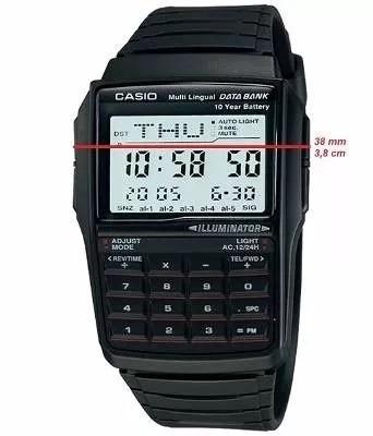 relógio casio dbc32-1av databank calculadora masculino retro
