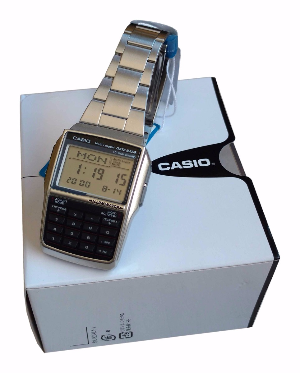 6170b329d64 Relógio Casio Dbc32 Databank Calculadora Caixa Original Nf - R  239 .