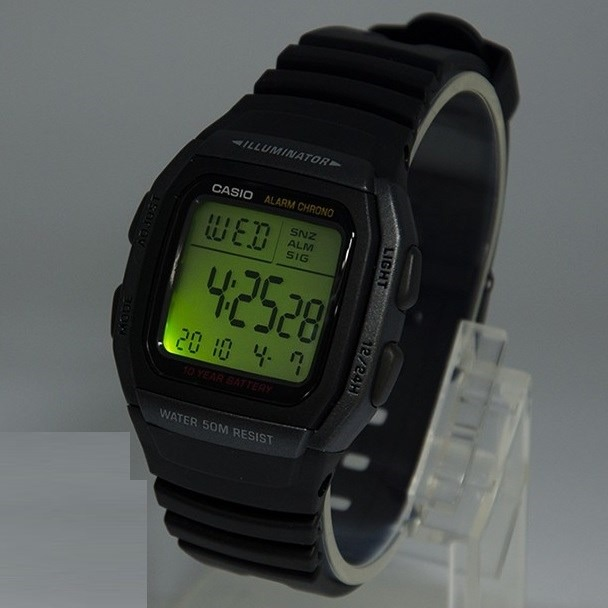 df84737def2 Relógio Casio Dig. W-96h 1bv Bateria 10anos 50m Original W96 - R ...