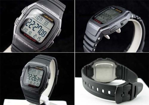 relógio casio dig. w-96h 1bv bateria 10anos 50m original w96