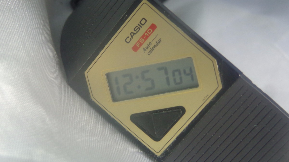 f71b722f973 Relógio Casio Digi-paper 1985 3