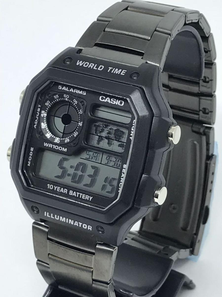 68e1d9a9b94 relógio casio digital aço vintage unissex exclusivo top !!! Carregando zoom.