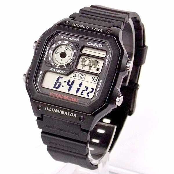 48d529bb222 Relógio Casio Digital Ae-1200 Wh-1av Bateria 10anos Wr100