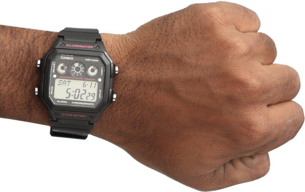cafcfd36b42 relógio casio digital esportivo ae-1300 wh-1av preto ae1000. Carregando  zoom.