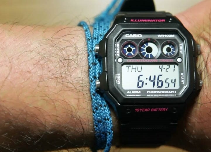 8928c5d2721 Relógio Casio Digital Esportivo Ae-1300 Wh-1av Preto Ae1000 - R  139 ...