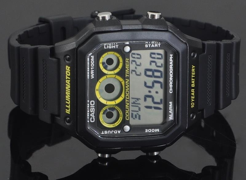 2074c0d4e4d relógio casio digital esportivo ae-1300wh-1avdf. Carregando zoom.