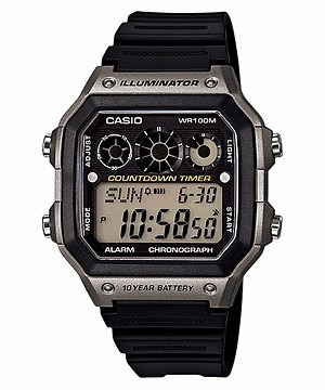 relógio casio digital esportivo ae-1300wh-8av