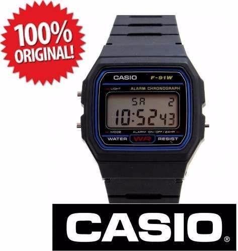b4014379b62 Relogio Casio Digital F-91w-1dg Retrô Vintage