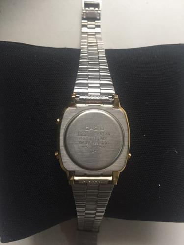 relógio casio digital feminino dourado original