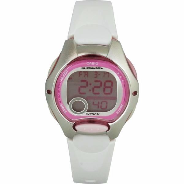 75bdb15fa64 Relogio Casio Digital Feminino Pequeno Rosa branco Lw-200-7a - R ...