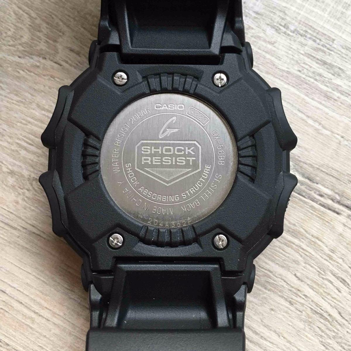 aaea32afbf8 relógio casio digital g shock gx56bb gx56 militar nf. Carregando zoom.
