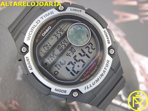 relógio casio digital hora mundial ae-3000w-1avcf