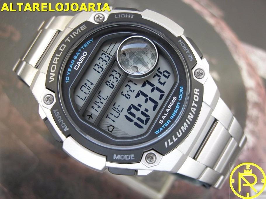 050d6166fc1 relógio casio digital hora mundial ae-3000wd-1avdf. Carregando zoom.