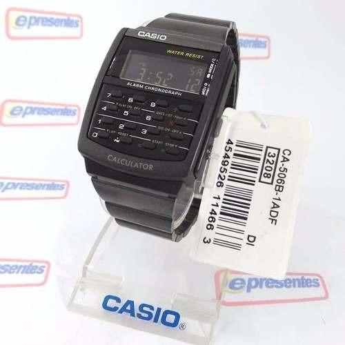 66abc0849ee Relógio Casio Digital Retrô Vintage Calculadora Ca-506b 1adf - R ...